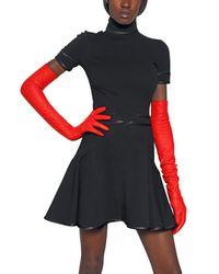 Givenchy | Black Silk Satin On Viscose Punto Milano Dress | Lyst