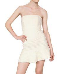 Jay Ahr White Lace On Viscose Cady Dress