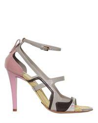 Jil Sander Multicolor 100mm Shiny Calf Patent Sandals