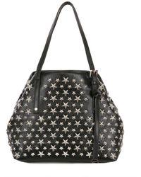 Jimmy Choo Black Sasha Nappa Leather Star Studded Bag