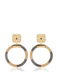 Ledaotto Metallic Taj Mahal Earrings