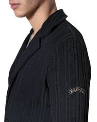 Les Copains Blue Heritage Striped Wool Cardigan for men