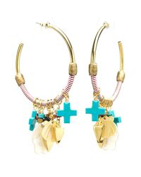 Lizzie Fortunato Metallic Soul Town Hoop Earrings