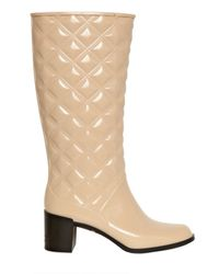 Marc Jacobs Natural 60mm Patent Pvc Quilted Pvc Boots