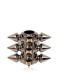 Mawi - Metallic Spiky Tube and Crystal Ring - Lyst