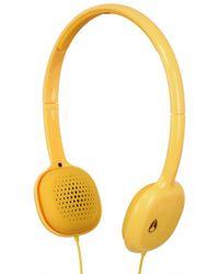 Nixon Yellow The Loop Headphones for men