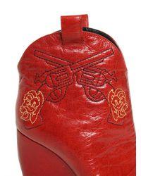 Rupert Sanderson Textured Calfskin Pointy Boots