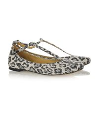 See By Chloé   Multicolor Leopard-print Canvas Flats   Lyst