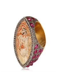 Sevan Biçakci Metallic Diamonds and Rubies Gold Ring