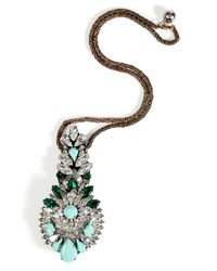 Shourouk | Green Mint Emerald Crystal Leitmotiv Zambia Necklace | Lyst