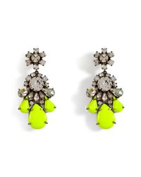 Shourouk | Yellow Crystal Earring | Lyst