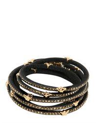 Tomasz Donocik Black Swarovski 7 Wrap Around Stars Bracelet
