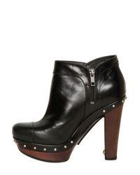 UGG Black 110mm Ambrogia Leather Boots