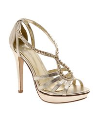 ALDO Metallic Strappy Heels