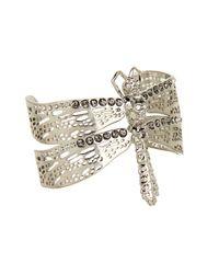 Alexander McQueen | Metallic Dragon Fly Bracelet | Lyst