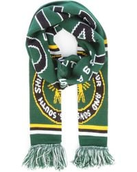 Barbour Green Football Scarf for men