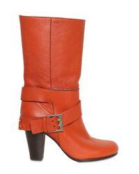 Chloé 90mm Soft Textured Calf Boots
