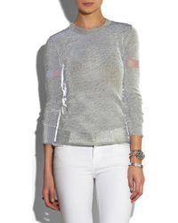 Dion Lee | Gray Reflective Knitted Sweater | Lyst