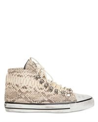 Black Dioniso Natural Python High Top Sneakers