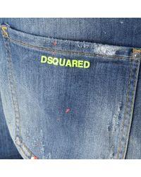 DSquared² Blue Neondetail Denim Shorts for men