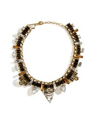 Erickson Beamon | Metallic Goldplated Xenon Necklace with Jet Black Crystals | Lyst