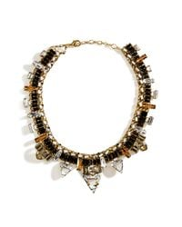 Erickson Beamon - Metallic Goldplated Xenon Necklace with Jet Black Crystals - Lyst