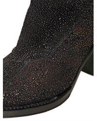 Gianni Barbato Black 70mm Metallic Calfskin Low Boots