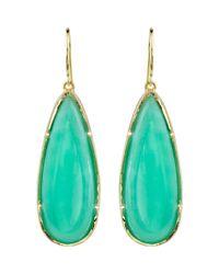 Irene Neuwirth - Green Chrysoprase Pearshaped Cabochon Earrings - Lyst