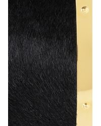 Maiyet Black Ayla Handfinished Calf Hair Clutch