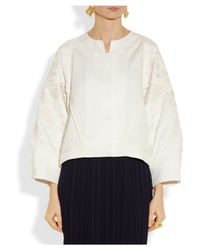 Maiyet White Ari Embroidered Cotton and Linen-Blend Jacket