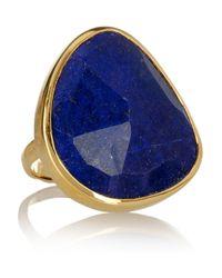 Monica Vinader | Blue Siren 18karat Goldvermeil Lapis Lazuli Ring | Lyst