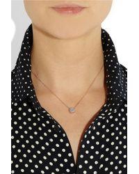 Monica Vinader Pink 18karat Rose Goldvermeil Diamond Necklace