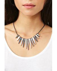 Nasty Gal Metallic Metal Spike Necklace