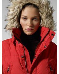 RLX Ralph Lauren Red Arctic Down Snorkel Coat