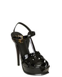 Saint Laurent - Black Heeled Sandals Shoes Woman - Lyst