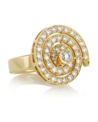 Solange Azagury-Partridge - Metallic Spinner 18karat Gold Diamond Ring - Lyst