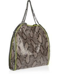 Stella McCartney Metallic The Falabella Large Shoulder Bag