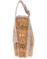 Carvela Kurt Geiger Natural Kabbalah Cork and Patent Leather Wedges