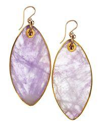 Devon Leigh - Purple Amethyst Drop Earrings - Lyst