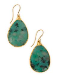 Devon Leigh - Green Jade Teardrop Earrings - Lyst