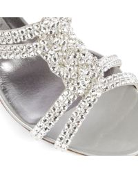 Gina Metallic Anabell Patent Leather Sandals