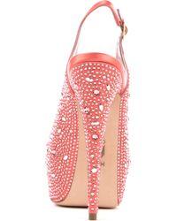 Gina Pink Sion Satin Platform Sandals