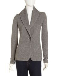 James Perse - Gray Shawl Collar Terry Jacket - Lyst