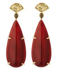 Kendra Scott | Yellow Sher Carnelian Earrings | Lyst