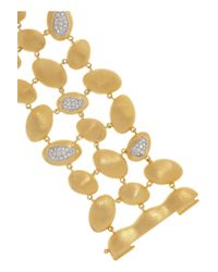 Kenneth Jay Lane - Metallic 18Karat Gold Plated Cubic Zirconia Bracelet - Lyst