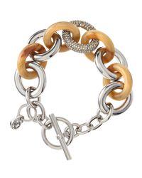 MICHAEL Michael Kors - Metallic Mixed Link Chain Bracelet - Lyst