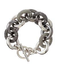 MICHAEL Michael Kors | Metallic Punk Mixed Link Bracelet | Lyst