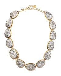 R.j. Graziano - Metallic Druzy Necklace - Lyst