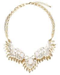 Swarovski - Metallic Angel Wing Necklace with Stones - Lyst
