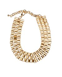 ASOS   Metallic Boxchain Choker Necklace   Lyst
